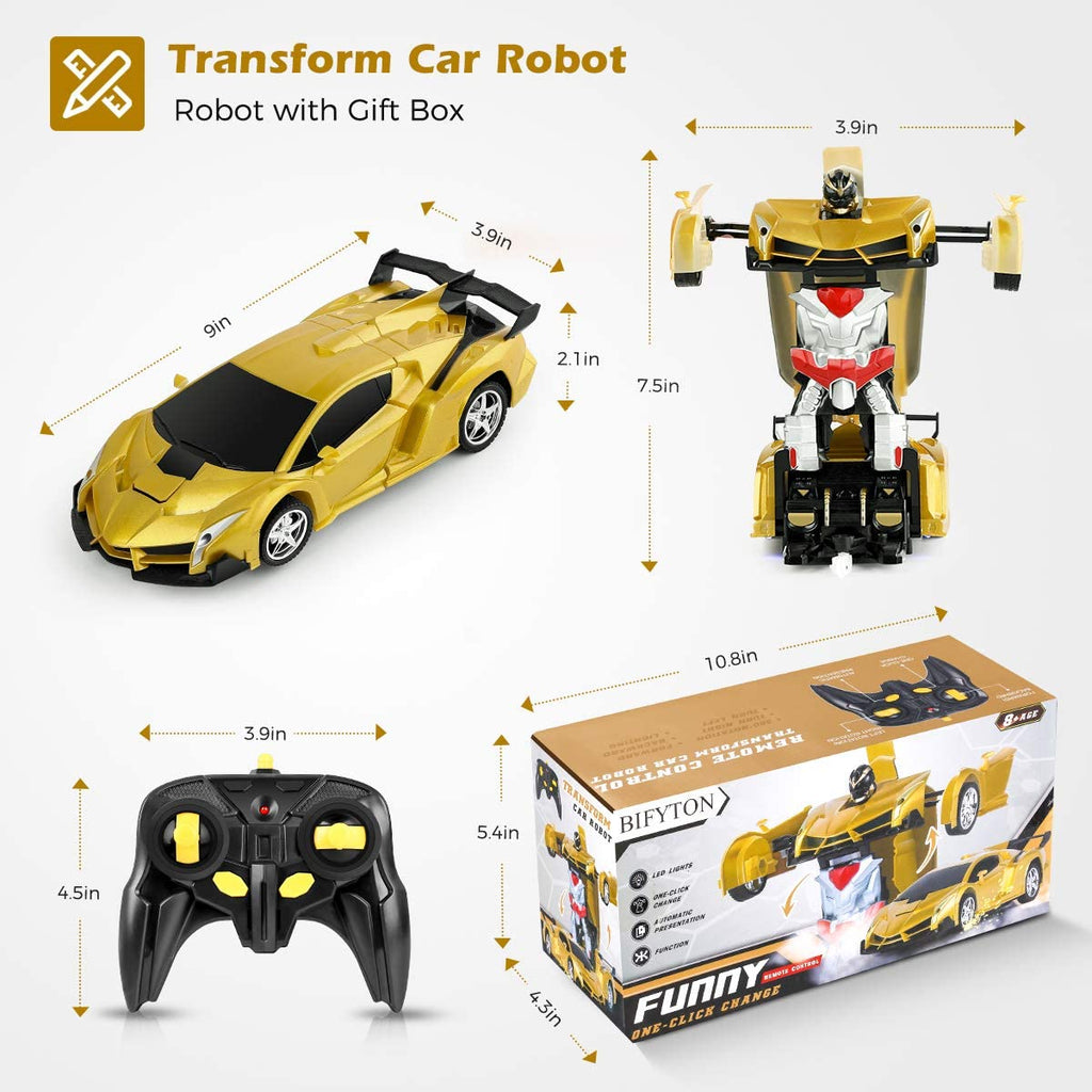 Transforming Robot Lambo RC Car