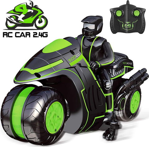 Sross Remote Control Car RC Car for Kids 2.4Ghz High Speed and 360° Spinning with One Rechargeable Battery Remote Control Motorcycles for 6-12 Year Old Boys or Girls (Black)
