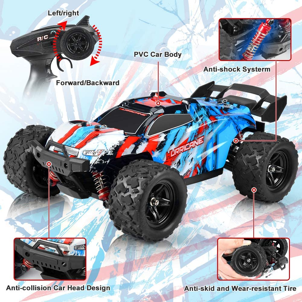 kolegend RC Car Remote Control Car High Speed 40 km/h RTR RC Monster Truck 1200 mah Rechargable Battery 4WD for Adults & Kids
