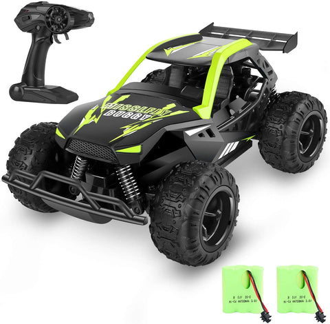 Image of MISSLFJY Remote Control Car High Speed RC Truck Hobby Racing Car Buggy Vehicle 2.4 GHZ 1:22 Scale RC Cars, Great Toy Gifts for Kids Boys Girls with Rechargeable Batteries and Two AA Batteries