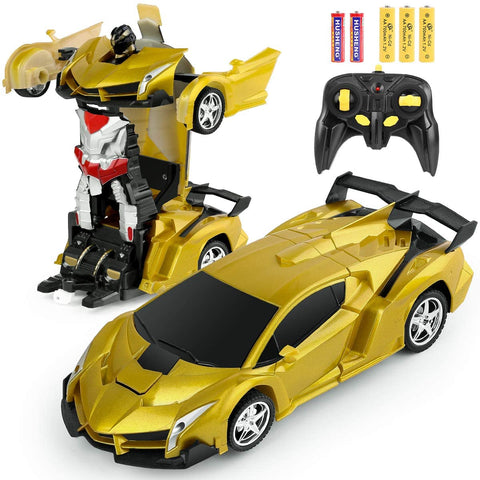 Image of Transforming Robot Lambo RC Car