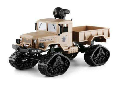 4WD Army RC Crawler Spy Truck (With Camera)