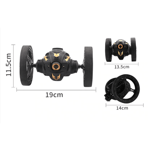 ATTIW C6-YW / C6 2.4G Jumping Car with WIFI Camera Flexible Wheels Rotation LED Night Light RC Robot High Stunt Car Bounce Car