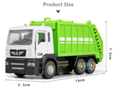 High simulation Garbage truck model,1: 43 scale alloy pull back toy cars, flashing & musical,diecasts & toy vehicl,free shpping