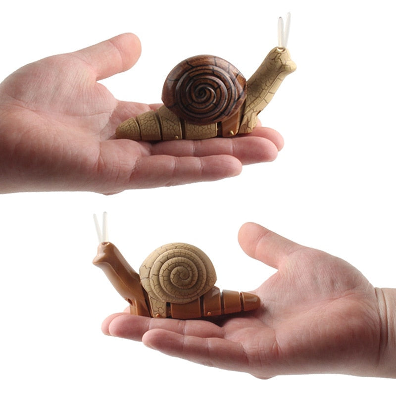 Infrared Remote Control Small Snail With Light Electric Insect Model Toy For Kids