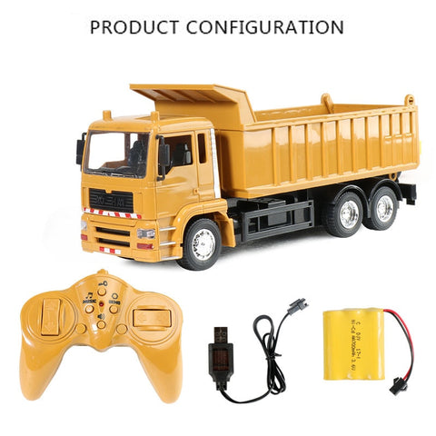 RC Engineering Dump Truck model Transporter Toy for Kids