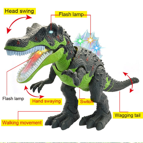 Image of RC Dinosaur Electric walking and sound Dinobot Toy Model Action Kids Gift Toys