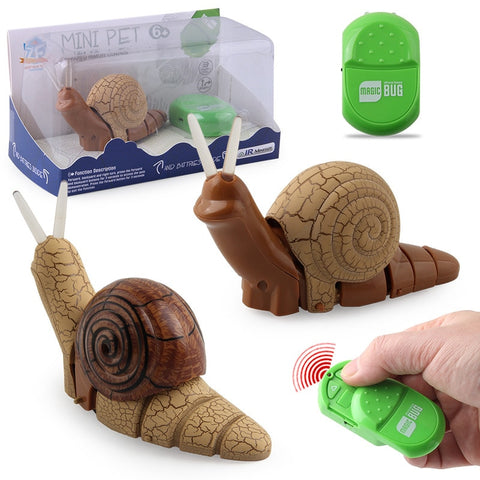 Image of Infrared Remote Control Small Snail With Light Electric Insect Model Toy For Kids