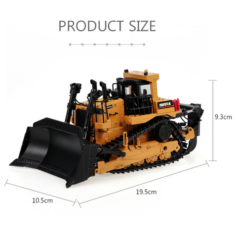 HUINA Toys 1700 Static Model Alloy 1:50 Die-Cast Heavy Bulldozer Toy