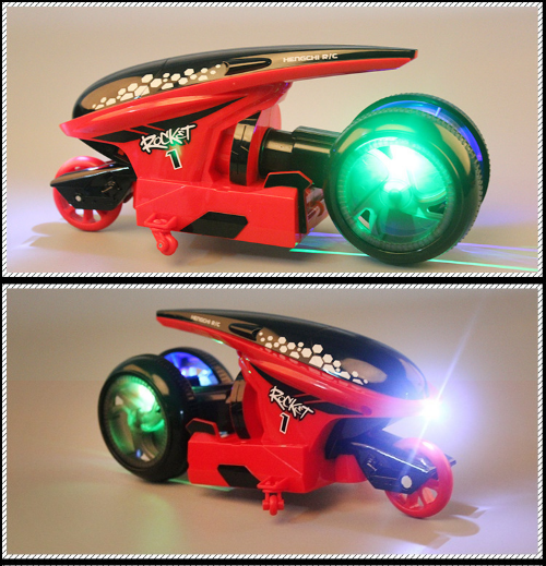 3 Color RC Futuristic Stunt Motorcycle Toy