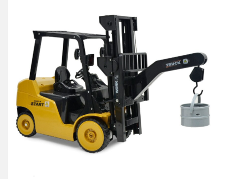Image of Rowsfire 1 Pcs 1:8 11 Channel RC Forklift Crane RC Construction Vehicle With High Quality Toy For Children Write