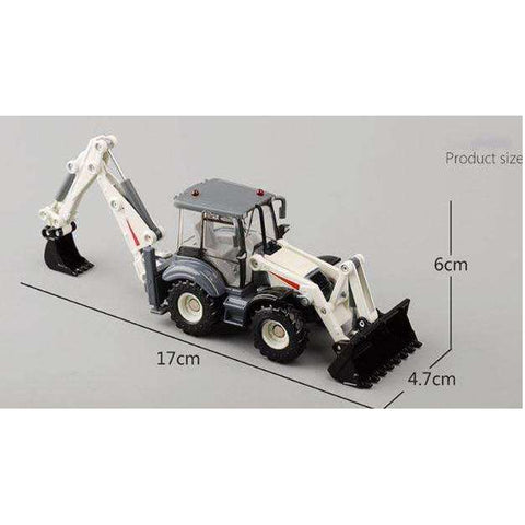 Push Play Alloy BackHoe Bulldozer