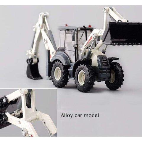 Image of Push Play Alloy BackHoe Bulldozer