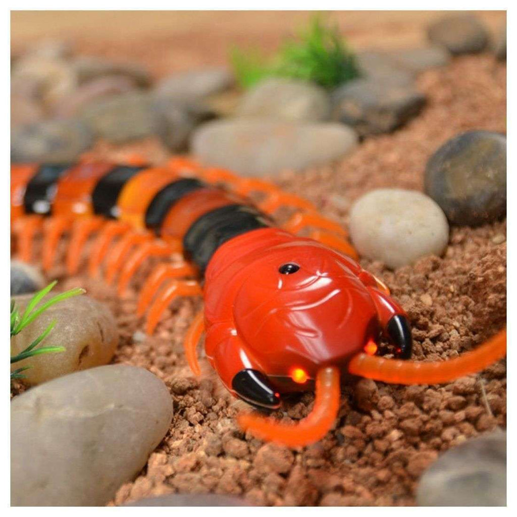 New Infrared RC Remote Control Centipede Scolopendra Creepy-crawly Kids Toy Gift,Orange&Black