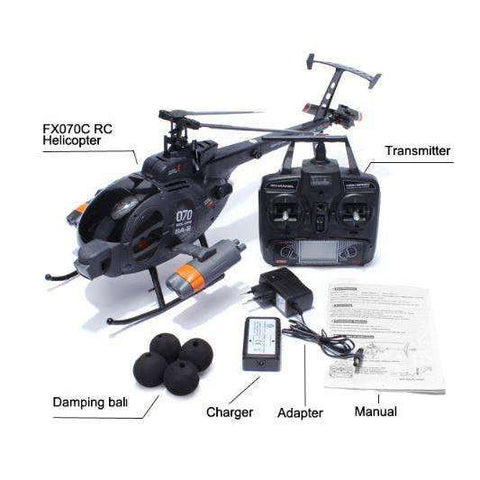 Image of Fly MD500 RC Black Hawk Helicopter