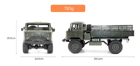 Image of DIY RC Climbing Military Off-Road RC Blue Devil Truck