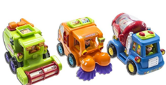Street Sweeper Set w/Cement Mixer and Harvester