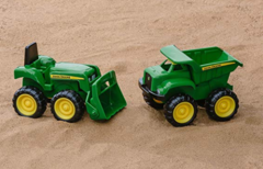 Image of John Deere Sandbox Vehicles 2 in 1 Package