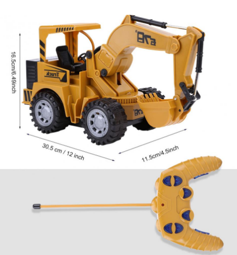 1:24 5 Channel RC Excavator Tractor Toy