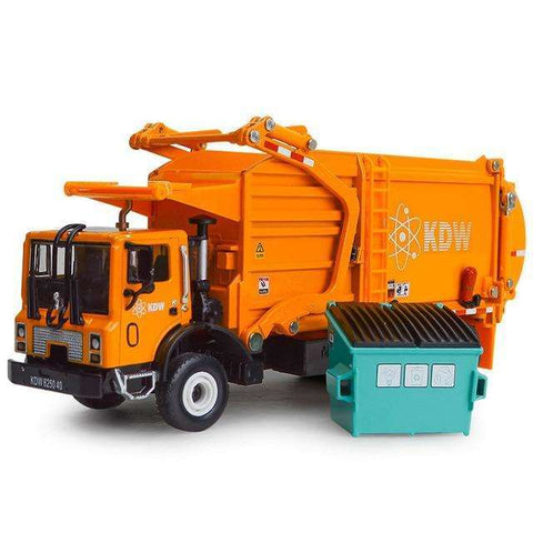 Image of Alloy Diecast Barreled Garbage Carrier Truck
