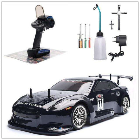 Image of HSP RC Car 4wd 1:10 On Road Racing Two Speed Drift Vehicle Toys 4x4 Nitro Gas Power High Speed Hobby Remote Control Car