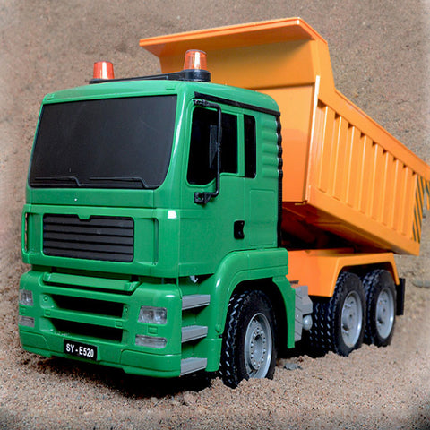 RC Truck 8 Channel 2.4G Tipper Lorry Remote Control Dumper Project Tilting Cart Engineering Electronic Model Hobby Birthday Toys