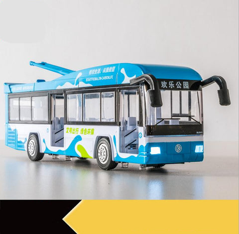 Image of Alloy Pull Back Street Bus Replica