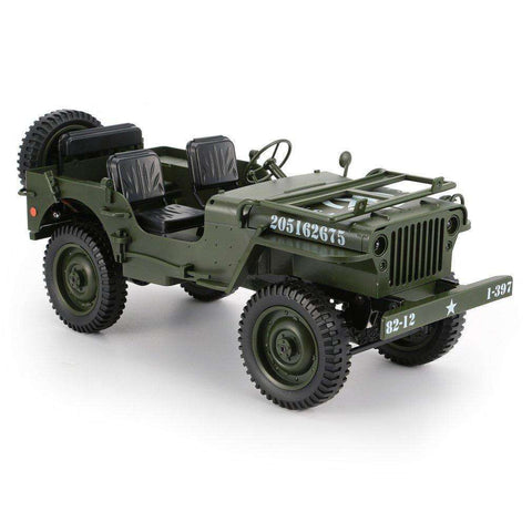 C606 1:10 RC Car 2.4G 4WD Convertible Remote Control Light Jeep Military RC Military Truck