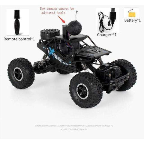 Image of New WIFI FPV APP All Terrain Wireless Control RC Car C009 2.4G 1:16 4WD Adjust Camera Remote Control Alloy Climbing Car Model