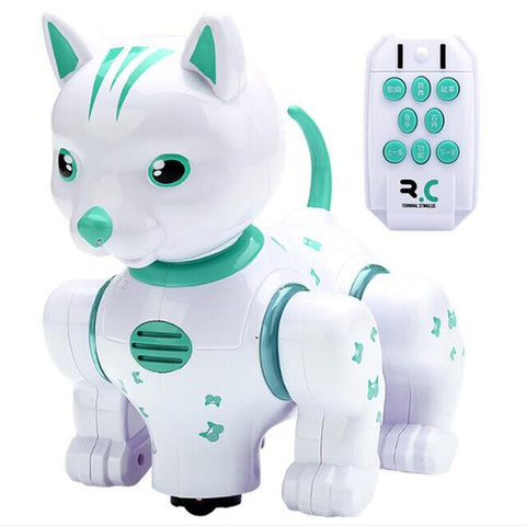 Image of Remote Control Intelligent Robot Cat Infrared Remote Control Music Lighting Voice Pet Touch Dazzling Dance Children's Puzzle Toy