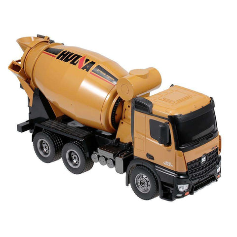 Image of Remote Control Truck Concrete Mixer Engineering Truck Light Construction Vehicle Toy