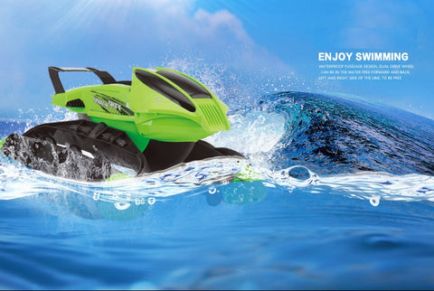 Image of Multi-Function RC Boat / Tank / Car On Water Grass Sand Children Remote control Toy Amphibious Car With Rechargeable battery