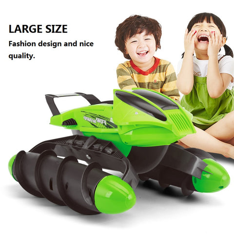 Multi-Function RC Boat / Tank / Car On Water Grass Sand Children Remote control Toy Amphibious Car With Rechargeable battery