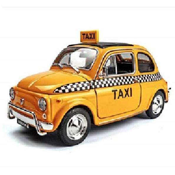 Diecast Model Fiat Nuova 500 Taxi Car