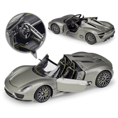 Diecast Model Porsche 918 Spyder Race Car