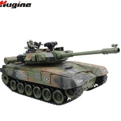 RC Tank Russian T-90 Main Battle Tank 15 Channel 1/20 2.4G With Sound and Shoot Bullet Recoil Effect Tank Model Electronic Toy