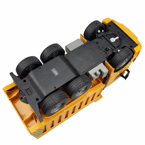 Image of RC Truck 2.4G Dump Truck Brand Radio Control Engineer Machine 6 CH 4WD High Power Demo Function with LED Lights and Sound Model
