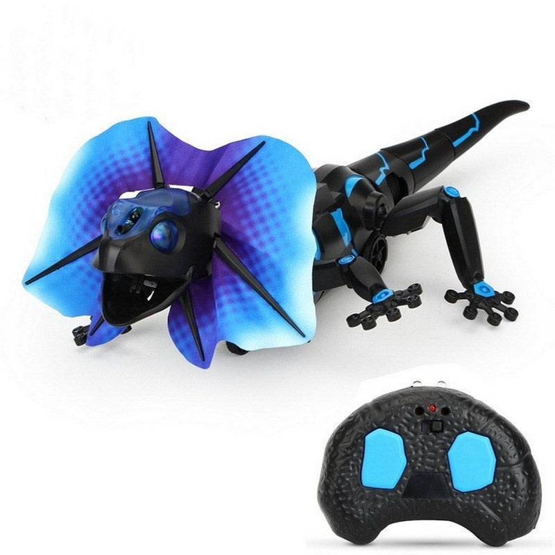 RC Wild Animals Infrared Remote Control Lizards Sensing Lizard Moving Inducing Sound Lighting Electric Pet Hobby Kids Toy