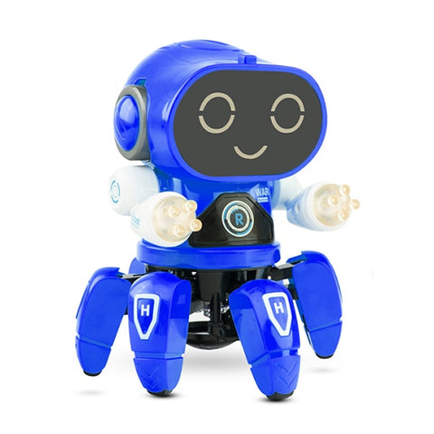 Image of Smart Dancing Robot Electronic Walking Toys With Musical & LED Lighting Octopus Robot for kids Intelligent Cool Birthday Gift