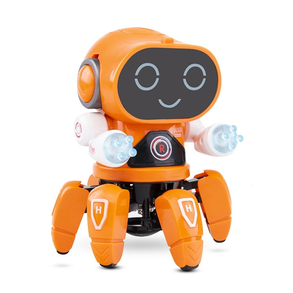 Smart Dancing Robot Electronic Walking Toys With Musical & LED Lighting Octopus Robot for kids Intelligent Cool Birthday Gift