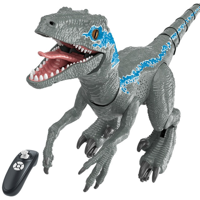 2.4G RC Dinosaur Intelligent Raptor Animal Remote Control Jurassic Dinosaur Toy Electric Walking Animals Toys For Children Gift