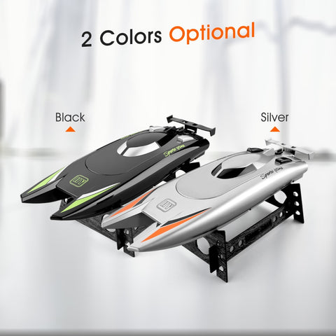 25KM/H Silver Black Speed Racing RC Boat