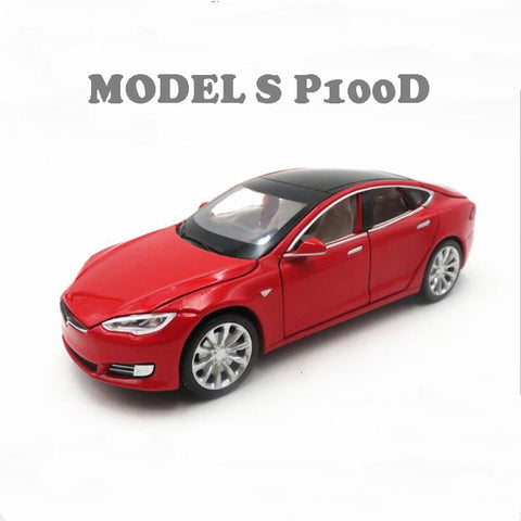Image of Tesla Model S Pull Back Toy Car