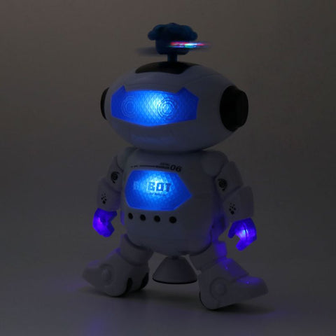 Image of Electronic Walking Dancing Robot Toys With Music Lightening For Kids  U50F