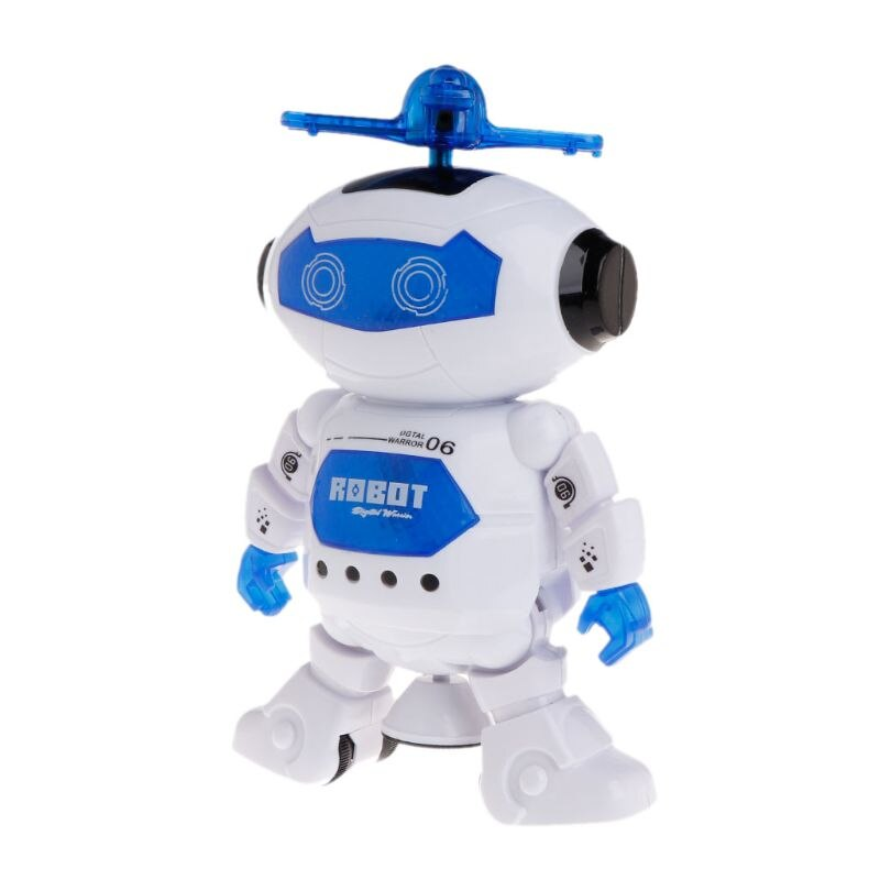 Electronic Walking Dancing Robot Toys With Music Lightening For Kids  U50F