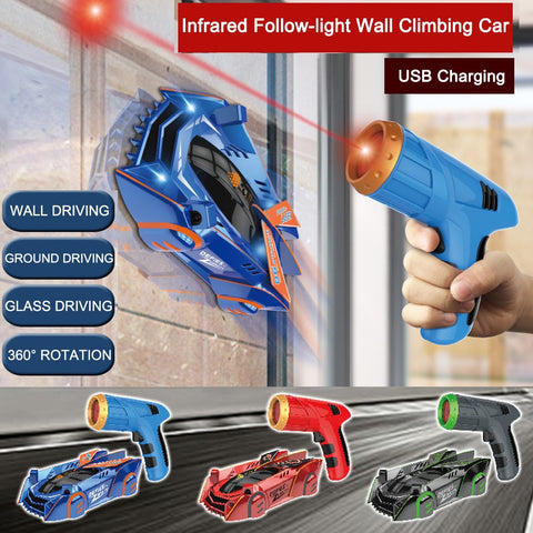 Image of Infrared Follow-Laser Tracking Wall Climber RC Car
