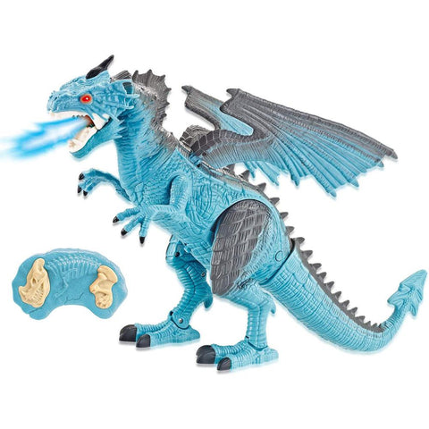 Image of Remote Control RC Walking Ice Dragon with Smoke Breathing