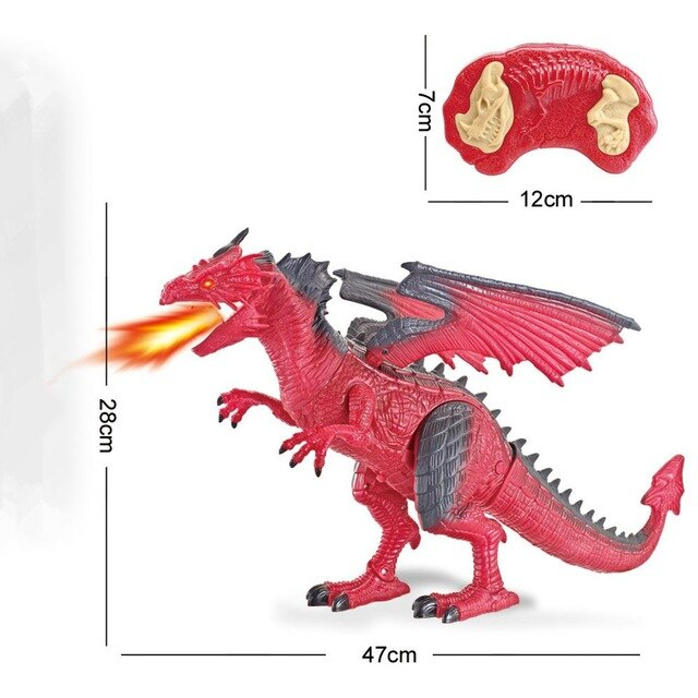 Remote Control RC Walking Ice Dragon with Smoke Breathing
