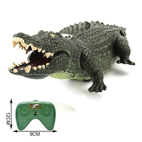 Electric Remote Control Crocodile Toy High Simualtion Animal Crawling Crocodile RC Toy With Cool Light Walking Sound Effect toys