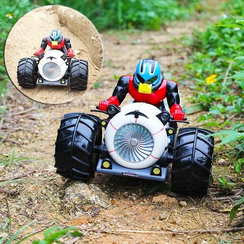 Image of RC Car Dirt Bike Rock Crawler 2.4G Amphibious Radio Control Motorcycle Stunt Racing Vehicle Model Light Electric Hobby Toys